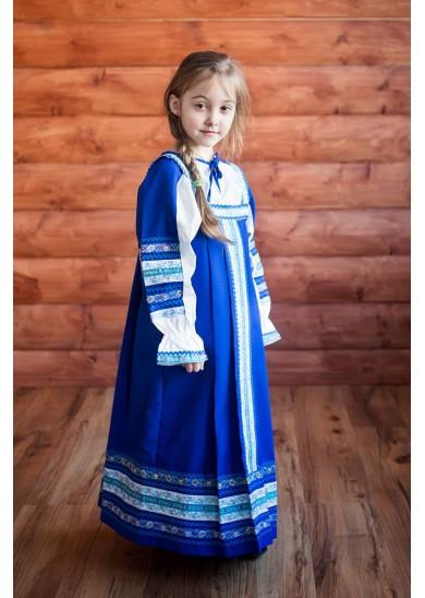 Сарафан «Дарья» синего цвета