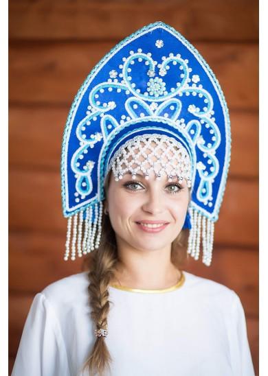 Кокошник «Анна» синий