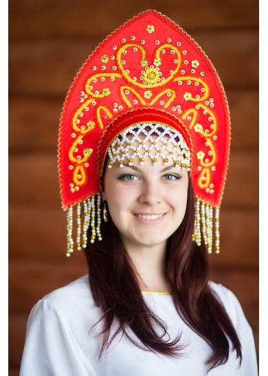 Кокошник «Анна» цвет красный
