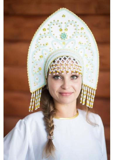 Кокошник «Анна» белый цвет