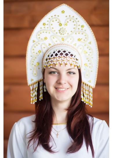 Кокошник «Анна» белый