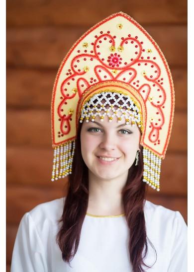 Кокошник «Анна» цвет золотой