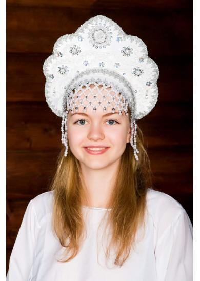 Кокошник «Лариса» белый