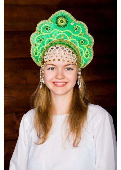 Кокошник «Лариса» зеленый