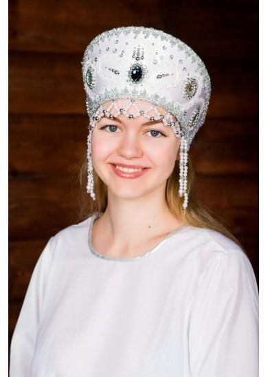 Кокошник «Виктория» белый