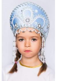 """Кокошник детский """"Алина"""" голубой"""