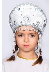 """Кокошник детский """"Алина"""" белый"""