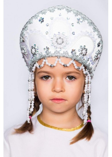 Кокошник «Алина» белый