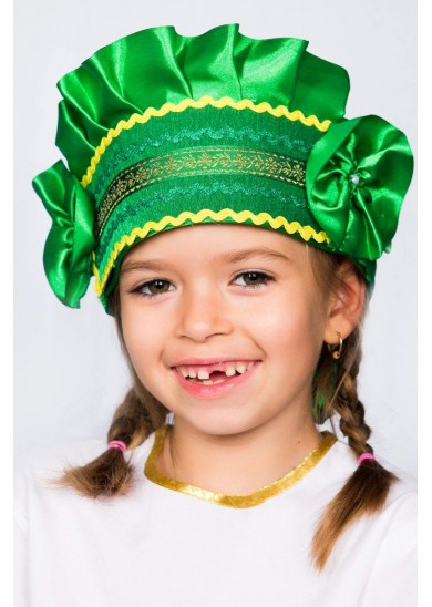 Кокошник «Настенька» зеленый