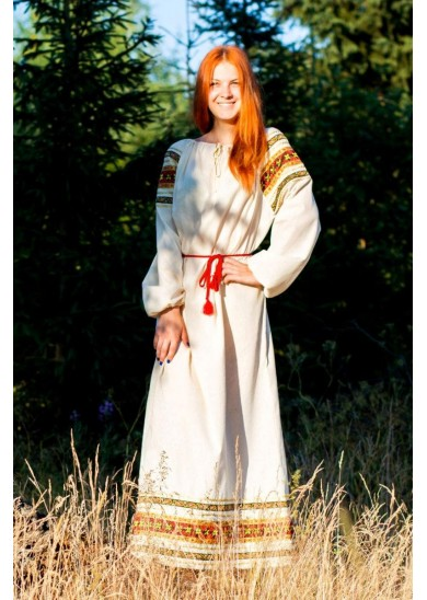 Рубаха «Василиса» натурального цвета