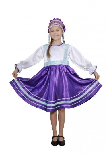 Платье «Сияна» фиолетовое