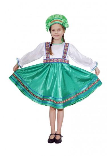 Платье «Сияна» зеленое