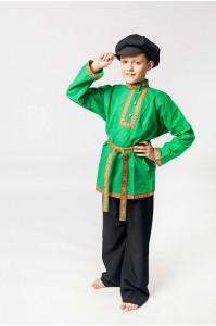 """Рубаха косоворотка """"Емеля"""" зеленая"""