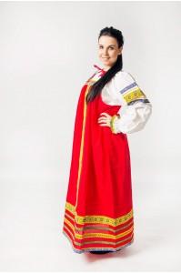"""Русский народный сарафан """"Дарья"""" красный"""