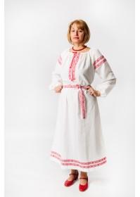 """Славянское платье """"Варвара"""" лён"""