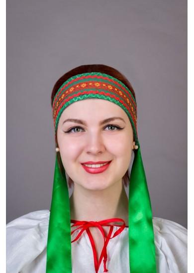 """Повязка """" Наталья"""" зеленая"""
